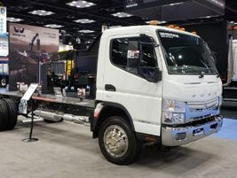 Among the vehicles Mitsubishi Fuso Truck of America featured was the Fuso FE180 Gas, which...