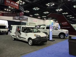 Ram Commercial unveiled the 2021 Ram ProMaster van at The Work Truck Show 2020 in Indianapolis,...