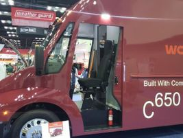 Workhorse unveiled its newly-designed C650 all-electric step van that feature a lightweight,...