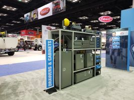 Adrian Steel demonstrated a number of its upfit and storage solutions including a variety of...