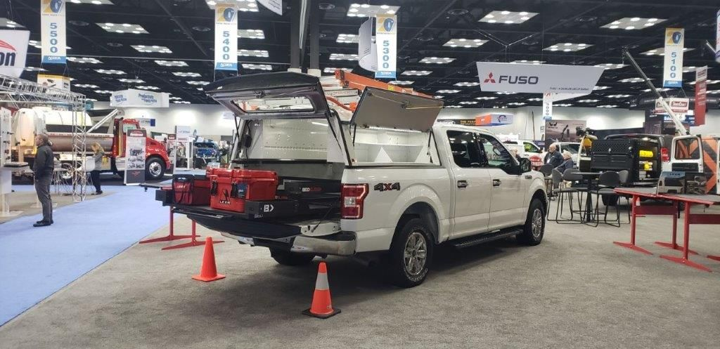 Bedslide displayed a variety of its storage solution and cargo access products for trucks.