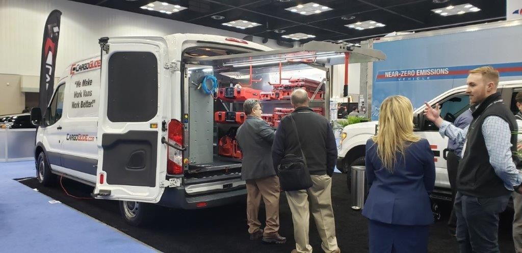 Cargo Glide exhibited its van and truck cargo storage and management solutions.