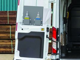 Kargo Master's Hand Sanitation Station keeps water, soap, towels, and disposal in one place,...