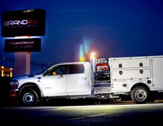 The BrandFX 661 reverse mount gas weld truck body is built from lightweight composite material....