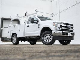 The Over the Cab Material Rack for 8-, 9-, and 11-foot service bodies — adds overhead capability...
