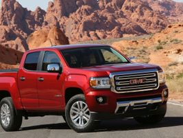 The mid-size Canyon pickup truck is offered in six trims and three truck bed lengths (extended...
