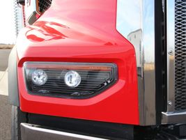 The 49X also debuts a dual-stage LED headlight system featuring an internally printed heat grid...
