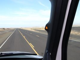 Western Star has its blind spot warning system in the A-pillar of the truck, featuring a small...