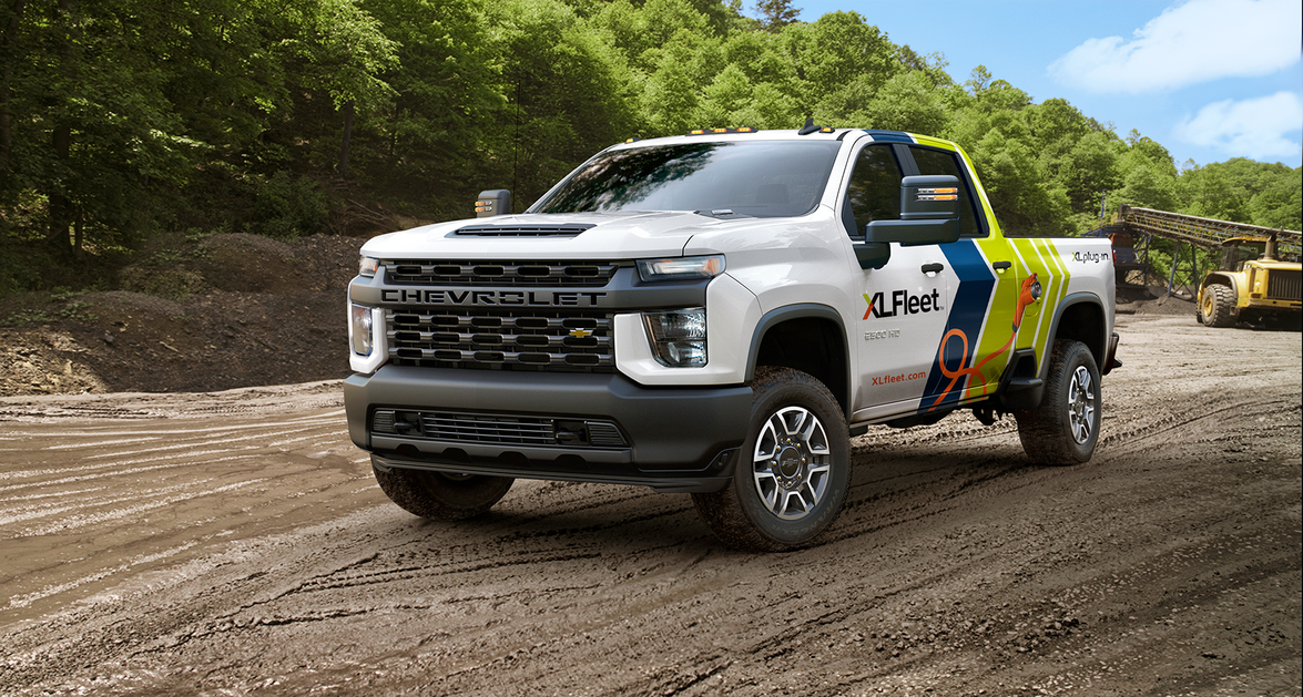 With an XLP plug-in hybrid electric drive system from XL Fleet, the Chevrolet Silverado 2500 HD...
