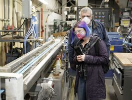 The company has its own plastics department that  features both extrusion and injection...