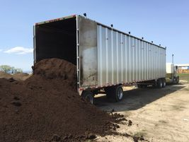 Materials are ready to be hauled and easily unloaded.
