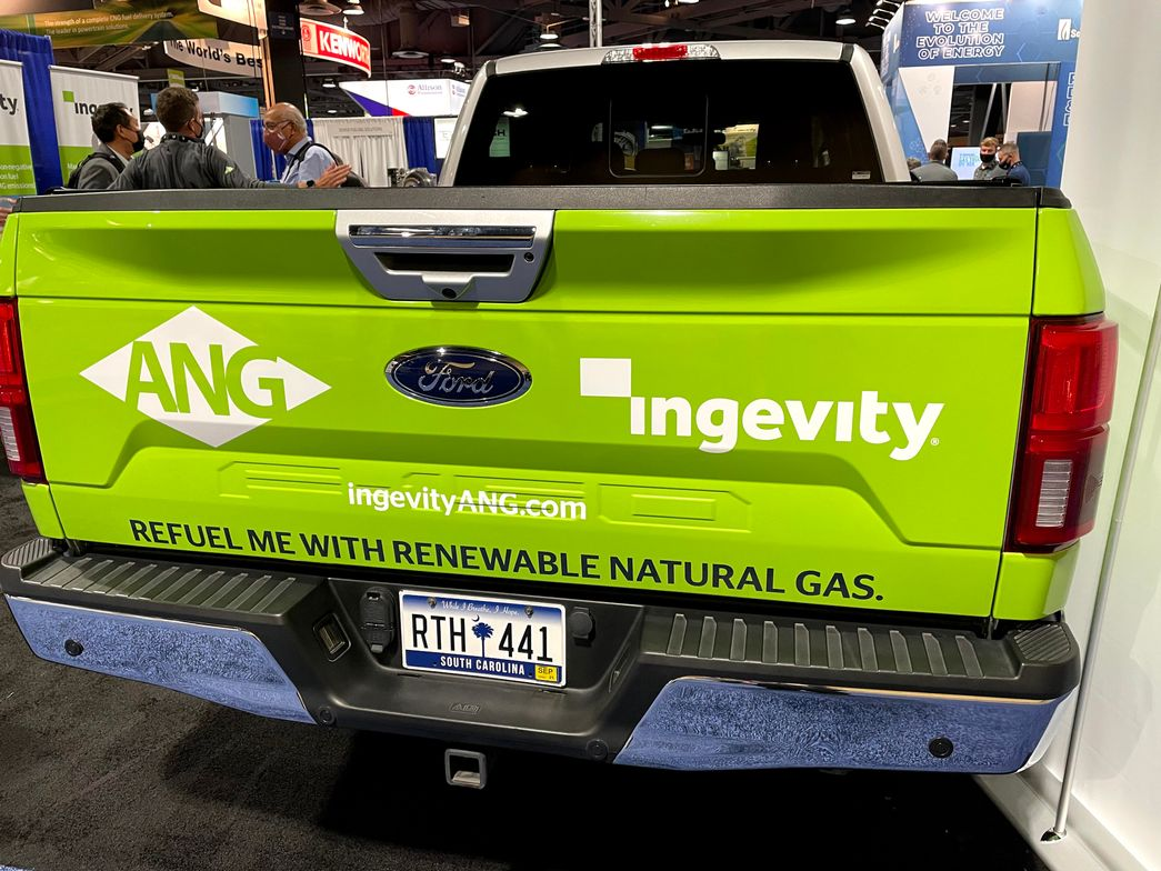 Using RNG to fuel an adsorbed natural gas (ANG)-powered truck can reduce approximately 18 tons...