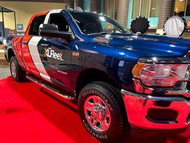 XL Fleet showed off its newest offering, a Ram 2500 heavy-duty pickup trucks with hybrid...