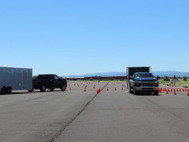 The Chevrolet Silverado 2020 HDs made easy work of the obstacle course.