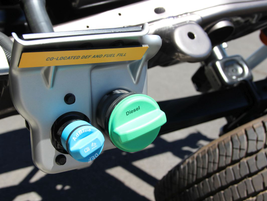 The new Silverado trucks feature a co-located DEF and fuel fill tank making filling your DEF...