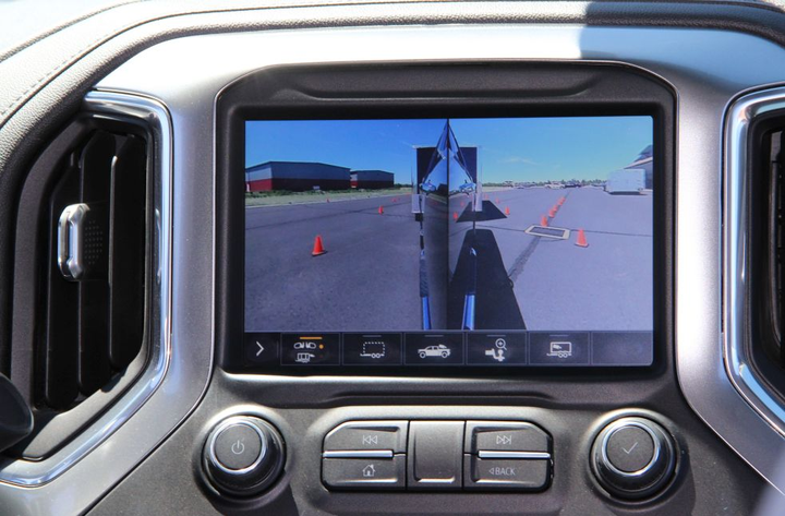 The new Chevrolet Silverado HDs feature eight cameras with up to 15 camera views.