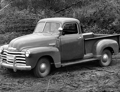 "This Chevrolet 3100 series from 1947 was the first truck to use the Chevy postwar ""Advance..."