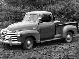 """This Chevrolet 3100 series from 1947 was the first truck to use the Chevy postwar """"Advance..."""