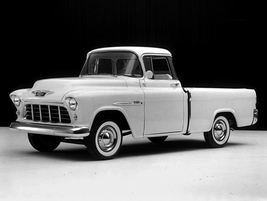 """The first """"Fleetside"""" truck in the industry, the 1955 Chevrolet 3124 Series Cameo Carrier was..."""