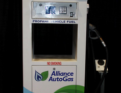 In addition to vehicles, Alliance AutoGas displayed its propane autogas fueling options.