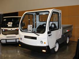 Taylor Dunn had its Bigfoot line of utility vehicles on display.