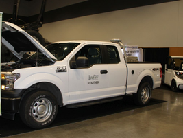 The City of Longview, Wash., Utilities showed off its Ford F-150.