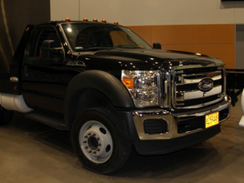 Several Ford models were on display, including the Ford F-550.