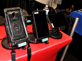 Ram Mounts was on site showing off its series of rugged device mounts.
