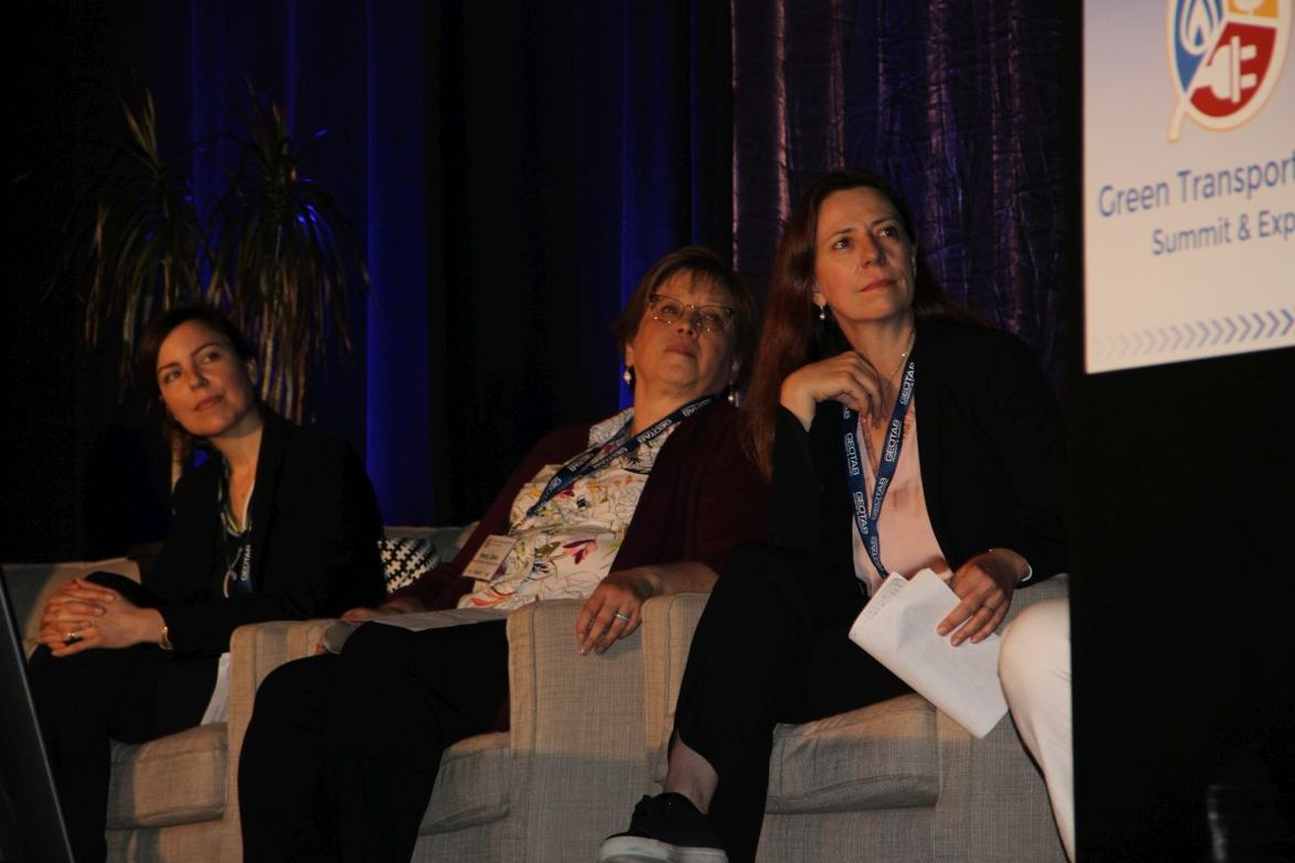 """Women took center stage in the session """"Women Driving the Future of Transportation."""" We took a..."""