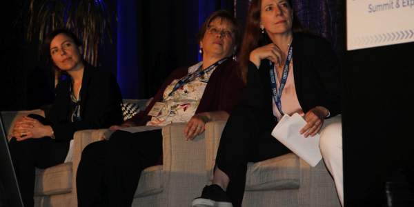 "Women took center stage in the session ""Women Driving the Future of Transportation."" We took a..."