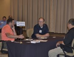 Attendees were given several minutes to chat with multiple companies throughout the event.