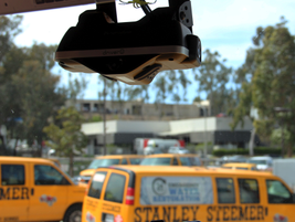 Netradyne's Driveri is installed in several trucks and features a small profile for visibility...
