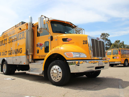 The Peterbilt Air Duct Truck is utilized for cleaning air ducts at homes and businesses.