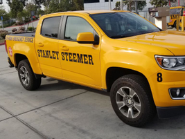 The fleet is mostly Chevrolet vehicles, including a pickup truck, with the exception of the few...