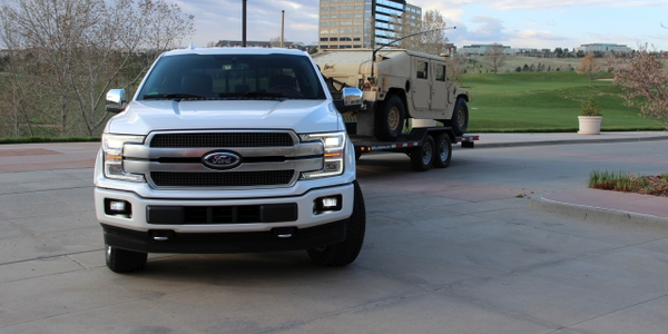 Capable of towing 11,400 pounds or hauling 2020 pounds of payload, the first diesel Ford F-150...
