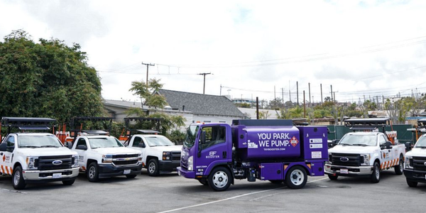 Booster's proprietary purple tanker and technology offers same-day mobile fuel delivery and...