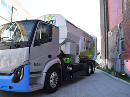 Lion Electric Co. and Boivin Évolution showcased a Class 8 truck with a powertrain and automated...