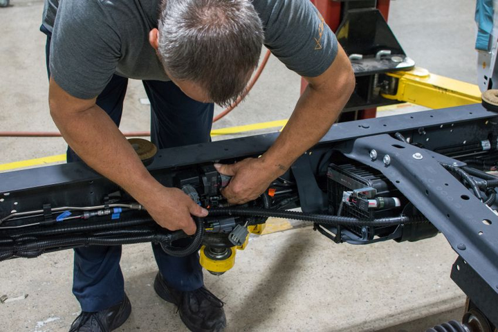 It can take just around 12 hours and nine easy steps to convert a gasoline-powered work truck to run on propane autogas.  - Photo courtesy of ROUSH CleanTech