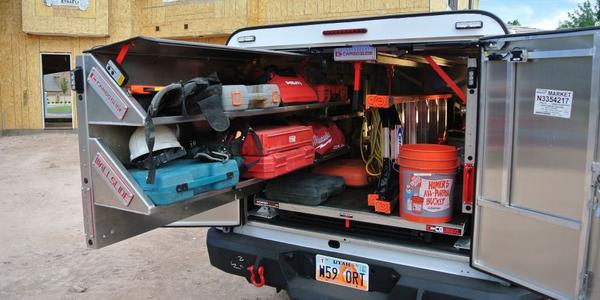 The CargoGlide Truck WallSlide system is a steel framework mounted inside a truck, which allows...