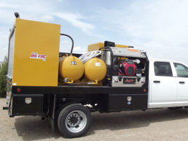 Sage Oil Vac has created a line of lube truck bodies to fit in a Class 5 truck chassis with a...