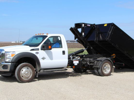 The Stellar Flex36 can handle dump containers ranging from 8 to 15 feet and flatbeds ranging...