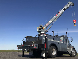 Venturo's new HT45KX telescopic crane has a maximum capacity of 7,800 pounds, crane rating of...