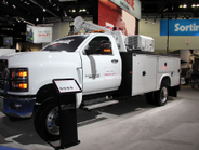 The Chevrolet Silverado 6500 HD, first unveiled at last year's show, was on display with a...