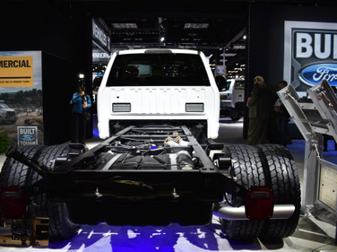 One of the biggest announcements at this year's show was the Ford F-600 Super Duty Chassis Cab....