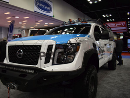 Nissan unveiled the Ultimate Work TITAN, a pickup truck specially upfitted for Habitat for...