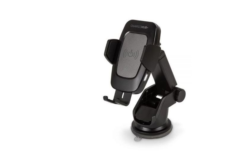The product automatically detects and grips when a phone is placed on the foot of the mount.
