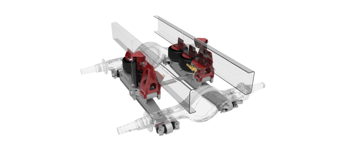 Link's 52K Air Link Gen 3 Tandem Drive Suspension for Heavy Vocational Trucks