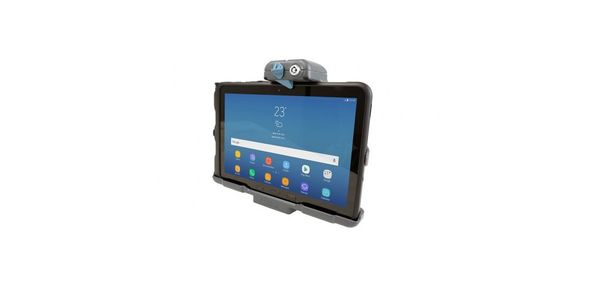 Use Gamber-Johnson's new Samsung Tab Active Pro docking station to securely hold and lock the...