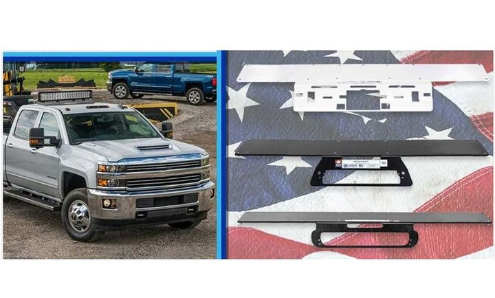 The new lighting mount for Chevrolet Silverado 4500 trucks is now available. - Photo: Larson Electronics