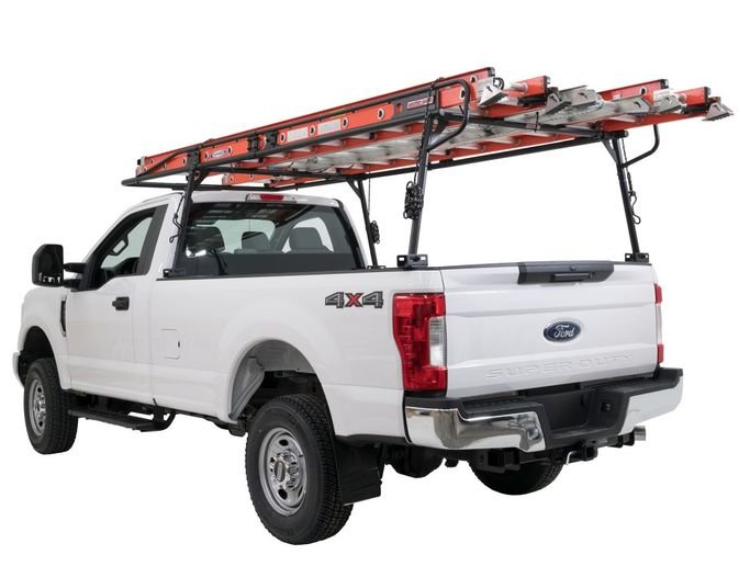 The Heavy Duty Steel Truck Rack is ideal for demanding users, including general contractors, tradesmen, and electricians. - Photo: Weather Guard